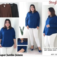 Baju Atasan Super Jumbo Jennie Blouse Bigsize Wanita Lengan Panjang