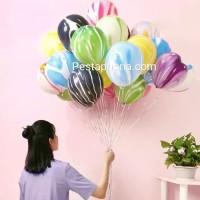10 pcs Balon Latex / Lateks Marble Size 10 inch