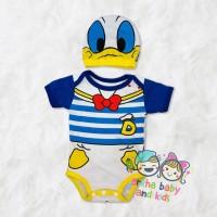 jumper bayi donal duck/baju bayi donal/jumper bayi karakter - S 0-6 Bulan