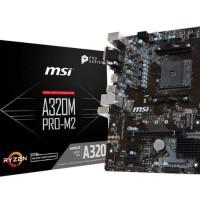 Termurah - MSI A320M Pro M2 AM4 AMD Promontory A320 DDR4 USB3.1 SATA3