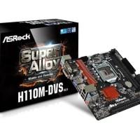 Grosir - Motherboard Intel Socket 1151 ASRock H110M-DVS R3.0