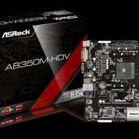 MOTHERBOARD ASROCK AB350M-HDV AM4 AMD PROMONTORY B350 DDR4 USB3.0