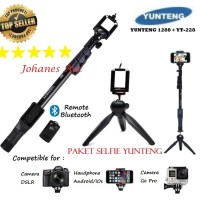 Paket Selfie Tongsis Yunteng 1288 Tripod Kaki + Yunteng 288