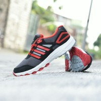 Sepatu Adidas Tracker Adinova Sport Running Outdoor Pria Hitam Merah