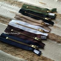 10cm Resleting Jeans/Zipper Celana/Rok Jeans YKK Gigi Besi & Autolock