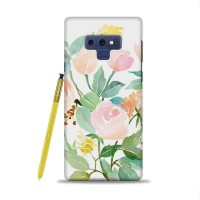 Indocustomcase Flower Art ID21 Case Cover For Galaxy Note 9