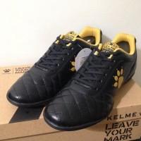 Branded Harga Nungsep Sepatu Futsal Kelme Power Grip Black Gold