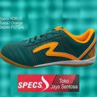 Branded Harga Nungsep Sepatu Futsal Specs Horus In Tosca/Orange -