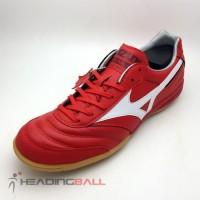 Sepatu Futsal Mizuno Original Morelia IN High Risk Red Q1GA180062 BNIB