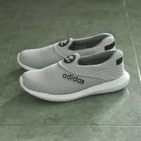 Sepatu Sport Santai Adidas Slip On Slop Putih Casual Tanpa Tali