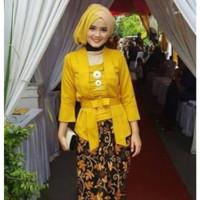 kebaya modern warna kuning