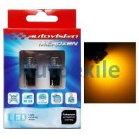 Autovision Microzen LED T10 4-3020SMD 220Lm Amber Jingga Lampu Senja