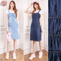 Overall Jumpsuit Ily Casual Shortdress Jeans Wanita