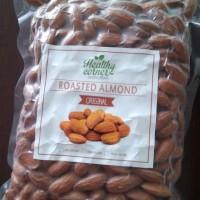Roasted Natural Whole Raw Almond ( Kacang Almond Panggang ) 500 gr