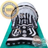 Tempat Tidur Bayi Set Motif Juventus / Kasur Bayi Lipat Kelambu