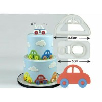 Cetakan Fondant Cookies Cutter Plunger Hias Kue Car Mobil Auto Cars