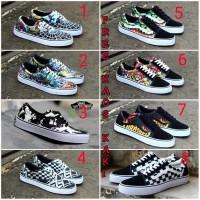 Sepatu Casual pria Vans Os motif Bape catur grade ori premium 8 varian