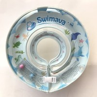Limited Swimava Neck Ring Blue With Hand Pump Ocean Pelampung bayi Ba