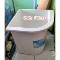 Bak Air Kamar Mandi/ Bak Air Mandi Plastik/ Bak Air Sudut Kamar Mandi