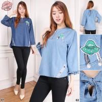 SB Collection Atasan Blouse Marissa Kemeja Casual Jeans Wanita