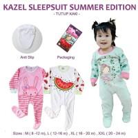 Kazel Sleepsuit Bayi Girl Summer Edition Tutup Kaki 0-24m