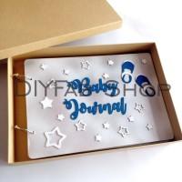 Scrapbook Album Baby Journal Blue A4 isi 25 Lembar Dengan Box