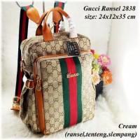 TAS BATAM TAS WANITA IMPORT TAS GUCCI RANSEL 2838 BACKPACK BRANDED