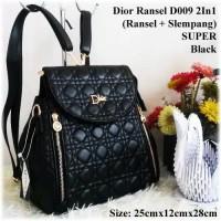 TAS BATAM TAS WANITA IMPORT TAS DlOR RANSEL SUPER D009 2in1 BACKPACK