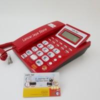 Telepon Rumah / Telpon Kabel / Telepon Meja Kantor Sahitel S-57 Merah