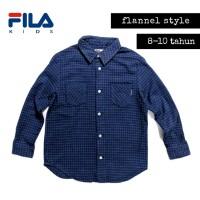 Kemeja anak FILA flannel baju anak second branded murah B334
