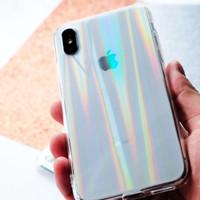 AURORA Hologram Case - Softcase transparan - for iPhone Oppo dan Xiaom