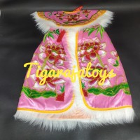 Baju Patung Kwan Im Dewa Dewi Warna Pink Ukuran 12 inchi