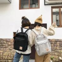 backpack fashion tas sekolah termurah - Hitam