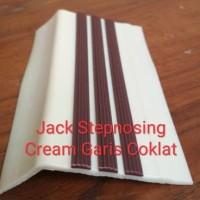 Stepnosing Karet cream list coklat / List Tangga Anti Slip Murah