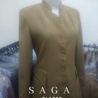 blazer baju wanita dinas pemda seragam pns warna keki, putih