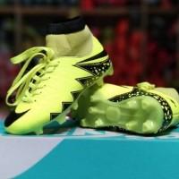 Sepatu Sepak Bola Anak Nike Hypervenom Skin Kids High Hijau Hitam