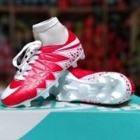 Sepatu Sepak Bola Anak Nike Hypervenom Skin Kids High Merah Putih