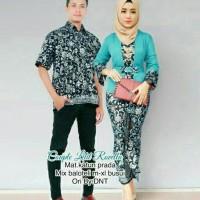 Kebaya Batik Couple Baju Pesta Seragam Batik Keluarga Modern