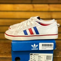 Sepatu Adidas Nizza Lo White Blue Red PK Quality Limited Stok Vietnam