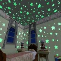 Star Wall Sticker Stiker Bintang Glow in the Dark dekorasi kamar anak