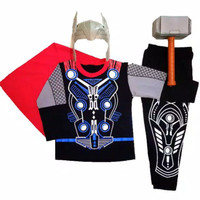 Kostum Topeng Superhero Avenger Thor Anak / Baju Thor Avengers Kado