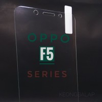 Tempered Glass Clear 9H New Oppo F5 / Plus / Youth Anti Gores Kaca