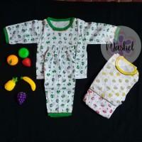 Setelan bayi tangan panjang/Piyama anak 3-12 bulan motif murah