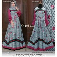 Baju Busana Muslim Wanita Gamis Syari Pesta Gucci Terbaru