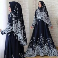 gamis syar'i Arimby &free jilbab Blue