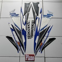 Stiker Supra X 125 2007 Biru