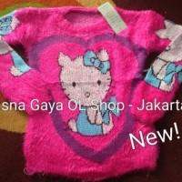 Sweater Bulu Import/ Baju Hangat/ Sweater Rajut Anak
