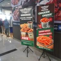 standing banner tripod untuk promo iklan//tiang banner termurah