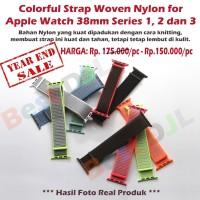 Strap Watchband Loop Woven Nylon Apple Watch 38mm Seri 1 2 3