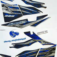 lis body/ striping / stiker yamaha New Scorpio Z 225 2013 biru hitam